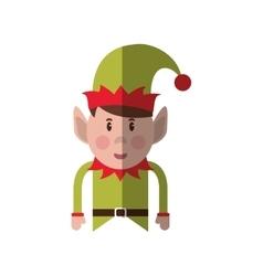 Isolated elf of christmas season design vector