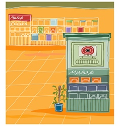 Music shop background vector