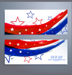 American independence day banners set vector