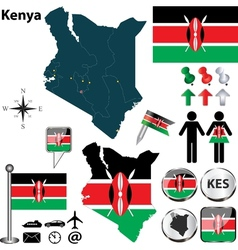 Kenya map vector