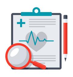 Medical diagnostic icon vector