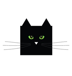 Sweet and cute black cat vector