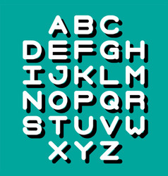 3d font and alphabet vector image