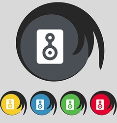 Video tape icon sign symbol on five colored vector