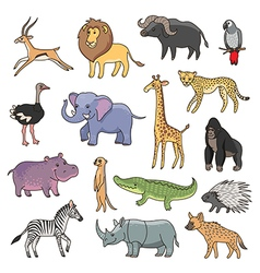 Animals africa vector
