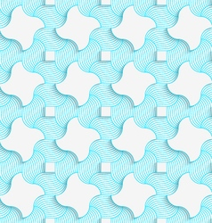 Colored 3d blue stripes and wavy squares vector