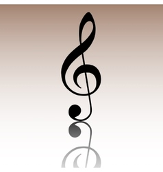 Violin clef isolated vector