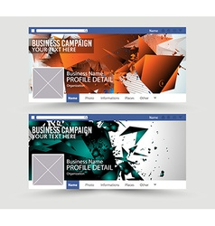 Social media web banner website header for page vector