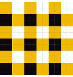 Lines dots yellow black white chessboard vector