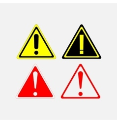 warning signs set vector image