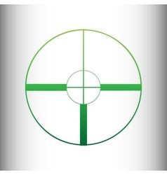 Sight sign green gradient icon vector