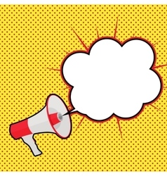 Megaphone with Sheesh and Speech Bubble vector image