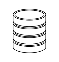 Data disk isolated icon design vector