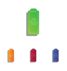 Battery recycle sign  colorfull vector