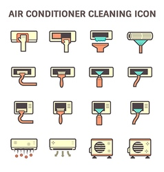 Air conditioner clean vector
