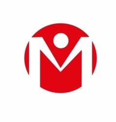 Alphabet letter m logo vector