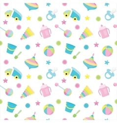 Baby toy pattern vector