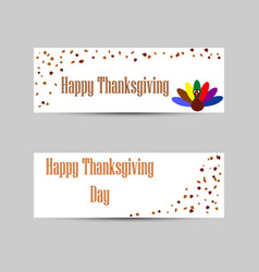 Banners for thanksgiving holiday vector
