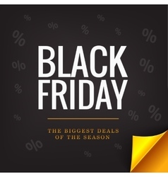 Black friday banner concept big deals gold vector