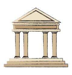 building bank financial business concept vector image vector image