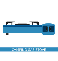 camping gas stove vector image