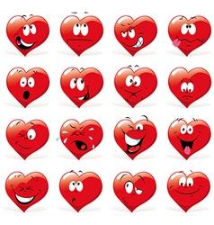 Cartoon hearts vector