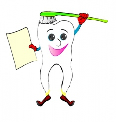 cheerful tooth vector image