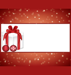 christmas card with gift box vector image
