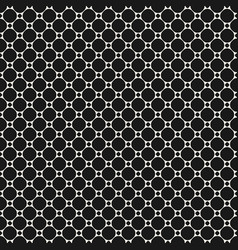 circles seamless pattern simple abstract grid vector image vector image