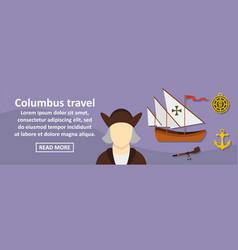 columbus travel banner horizontal concept vector image vector image