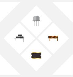 Flat icon appliance set of destination resist vector