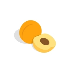 Fresh apricot fruits icon isometric 3d style vector