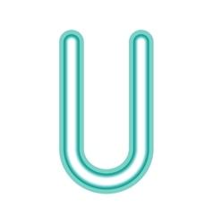 Glowing neon letter u vector