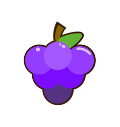 grapes icon of simple color vector image