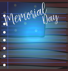 Greeting card of memorial day design style vector