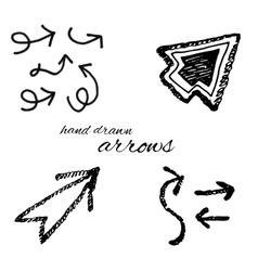 Hand drawn arrow icon vector