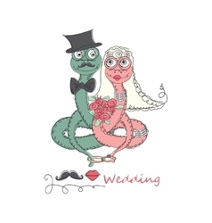 Hand drawn romantic universal trendy card vector image