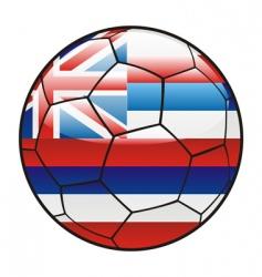 hawaii flag on soccer ball vector image vector image