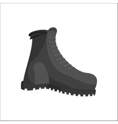 Hunting boots icon black monochrome style vector