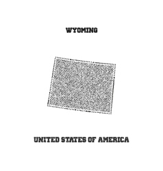 Label with map of wyoming vector