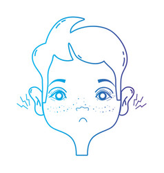 line man with otitis earache illness infection vector image vector image
