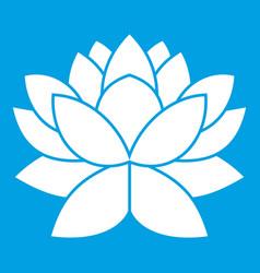 Lotus flower icon white vector