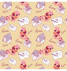 Love letter valentine seamless texture vector