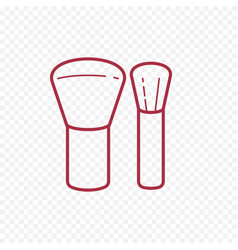 Make up brush thin line icon vector