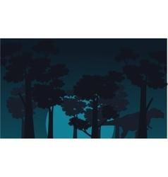 Mapusaurus scenery of silhouettes vector image