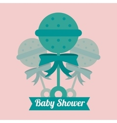 Maraca of baby shower card design vector