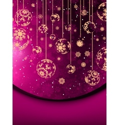 Merry Christmas greeting card EPS 8 vector image