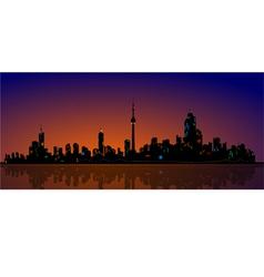 North american metropolis skyline urban city view vector