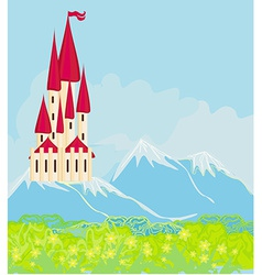 Panorama with medieval castle vector image vector image