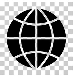 Planet globe icon vector